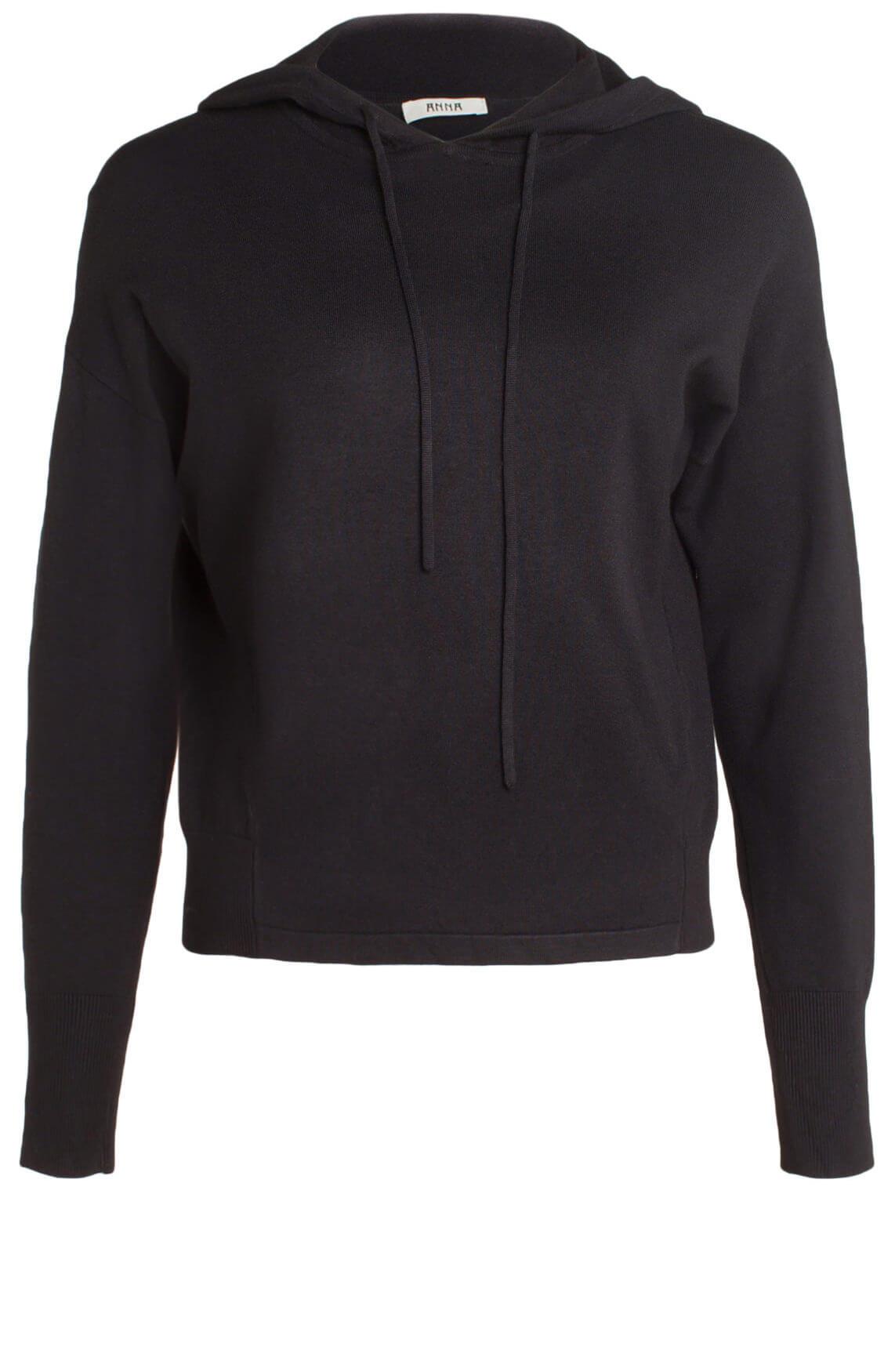 Anna Dames Sweater met capuchon zwart