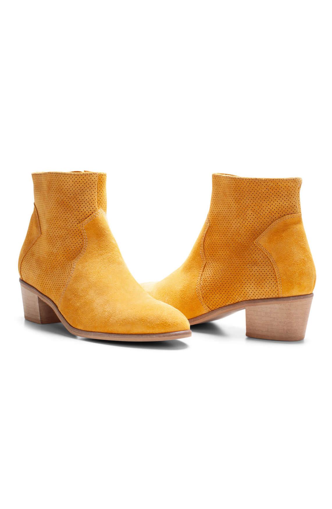 Noi Due Dames Suède cowboylaarsje geel
