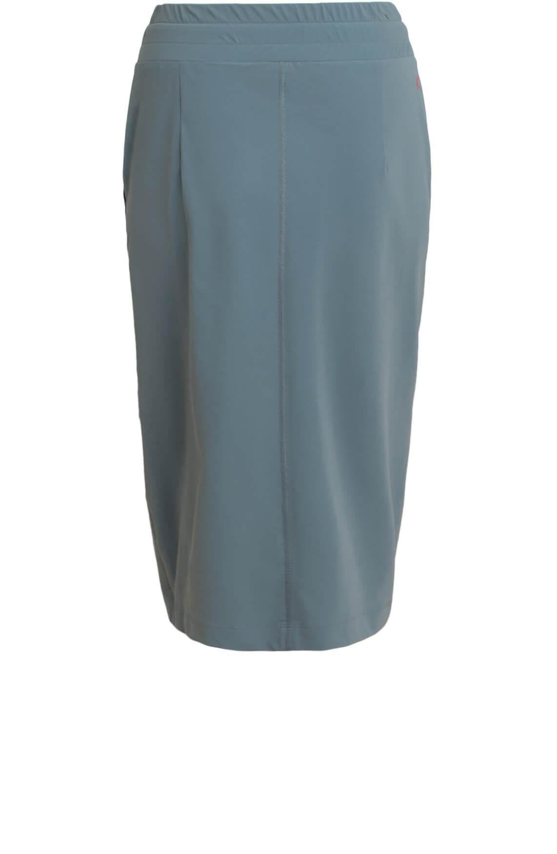 Anna Blue Dames Jersey rok groen