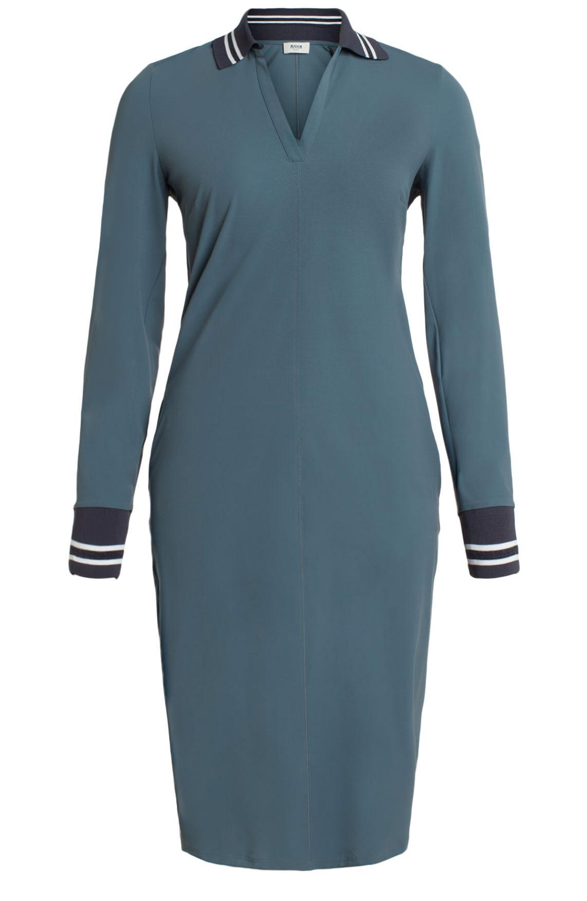 Anna Blue Dames Sportieve jersey jurk Grijs