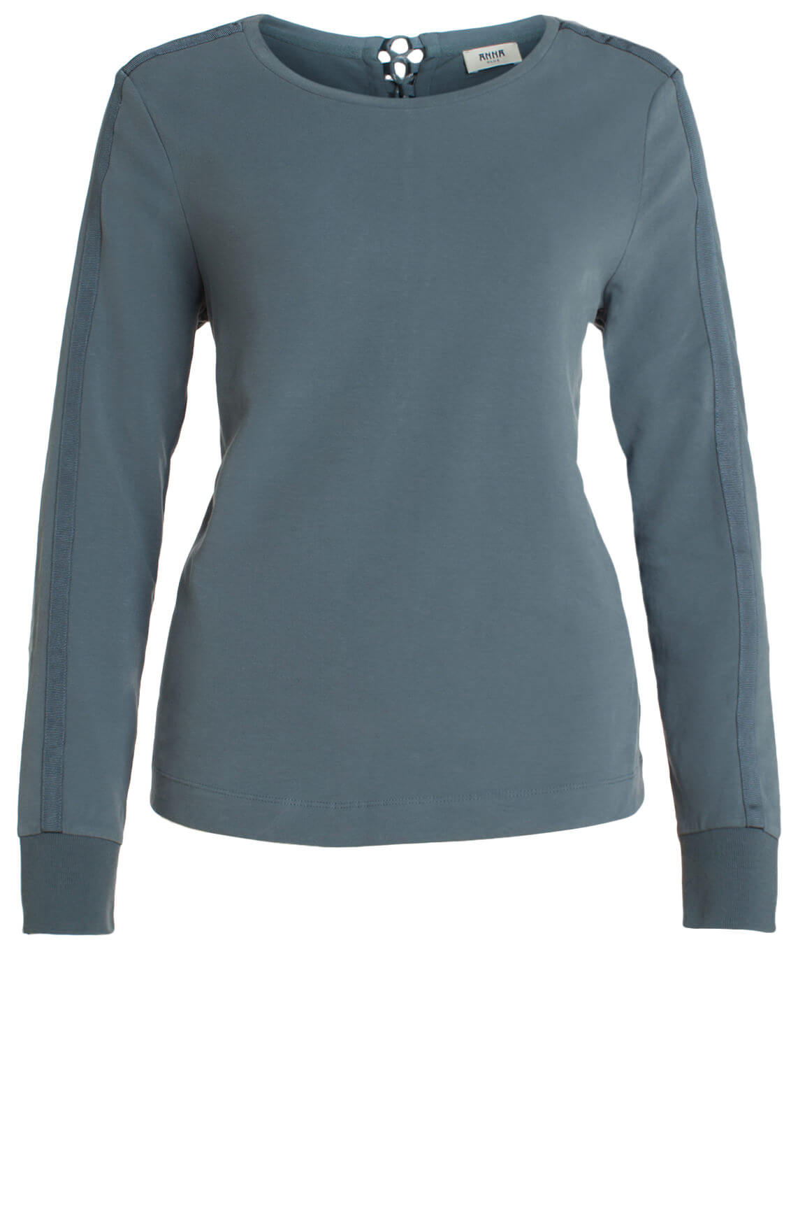 Anna Blue Dames Sweater met lace-up Grijs