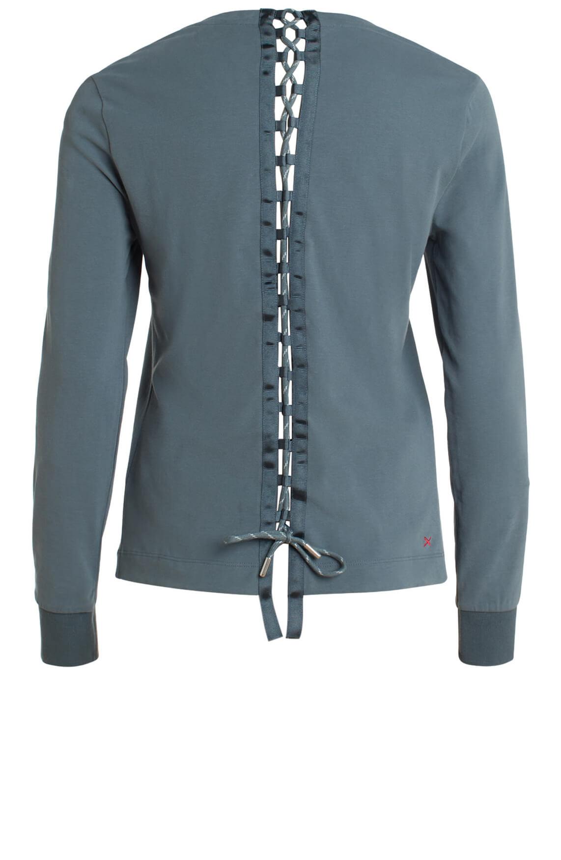 Anna Blue Dames Sweater met lace-up Grijs