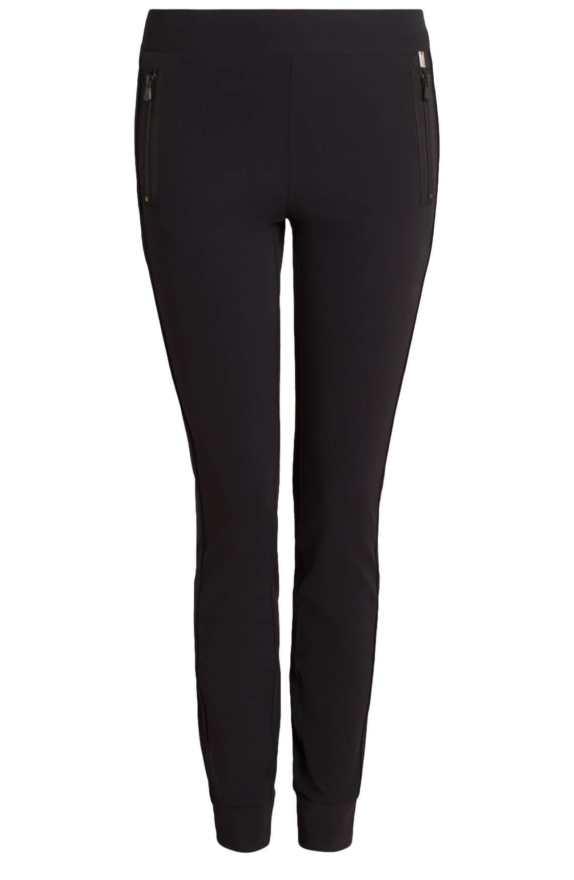 Anna Dames Comfortabele pantalon zwart