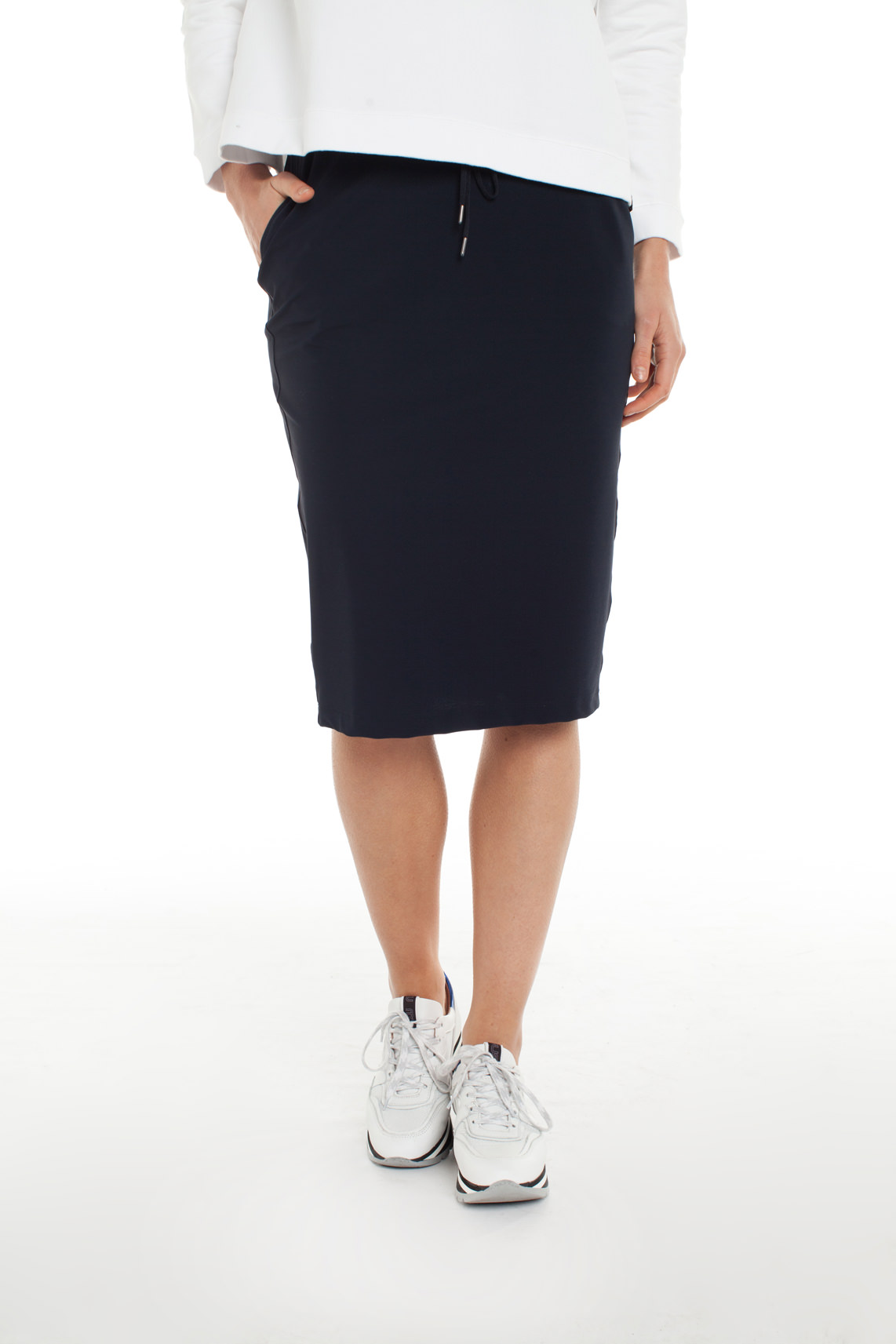 Anna Dames Jersey sensitive rok Blauw