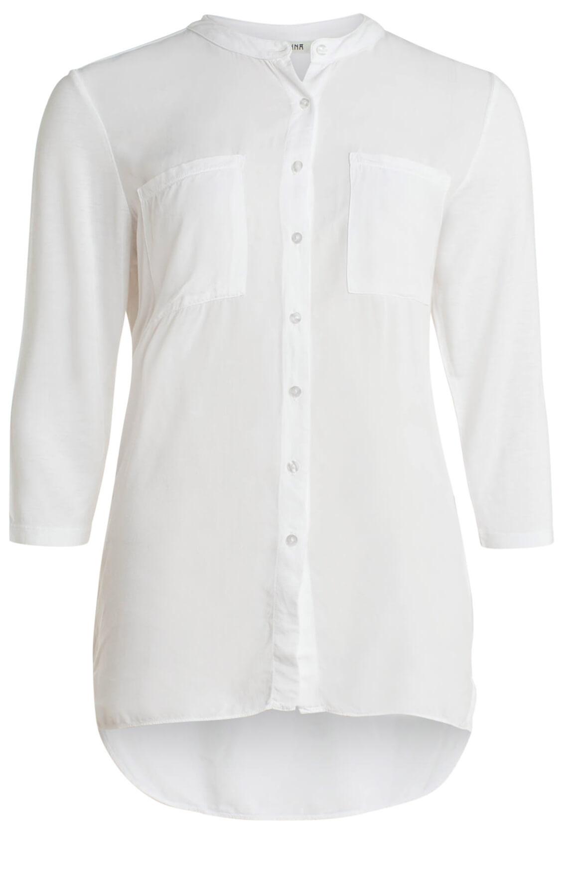 Anna Dames Materiaalmix blouse wit