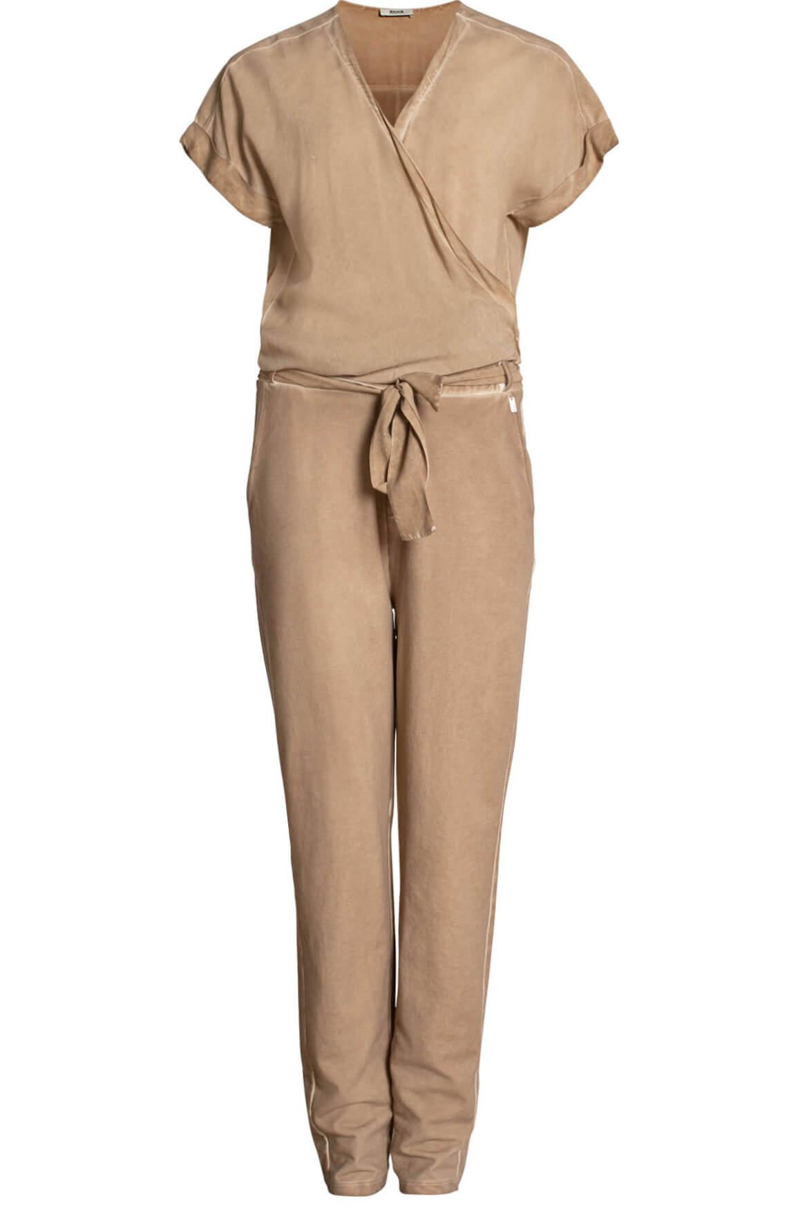 Anna Dames Garment dye jumpsuit Bruin