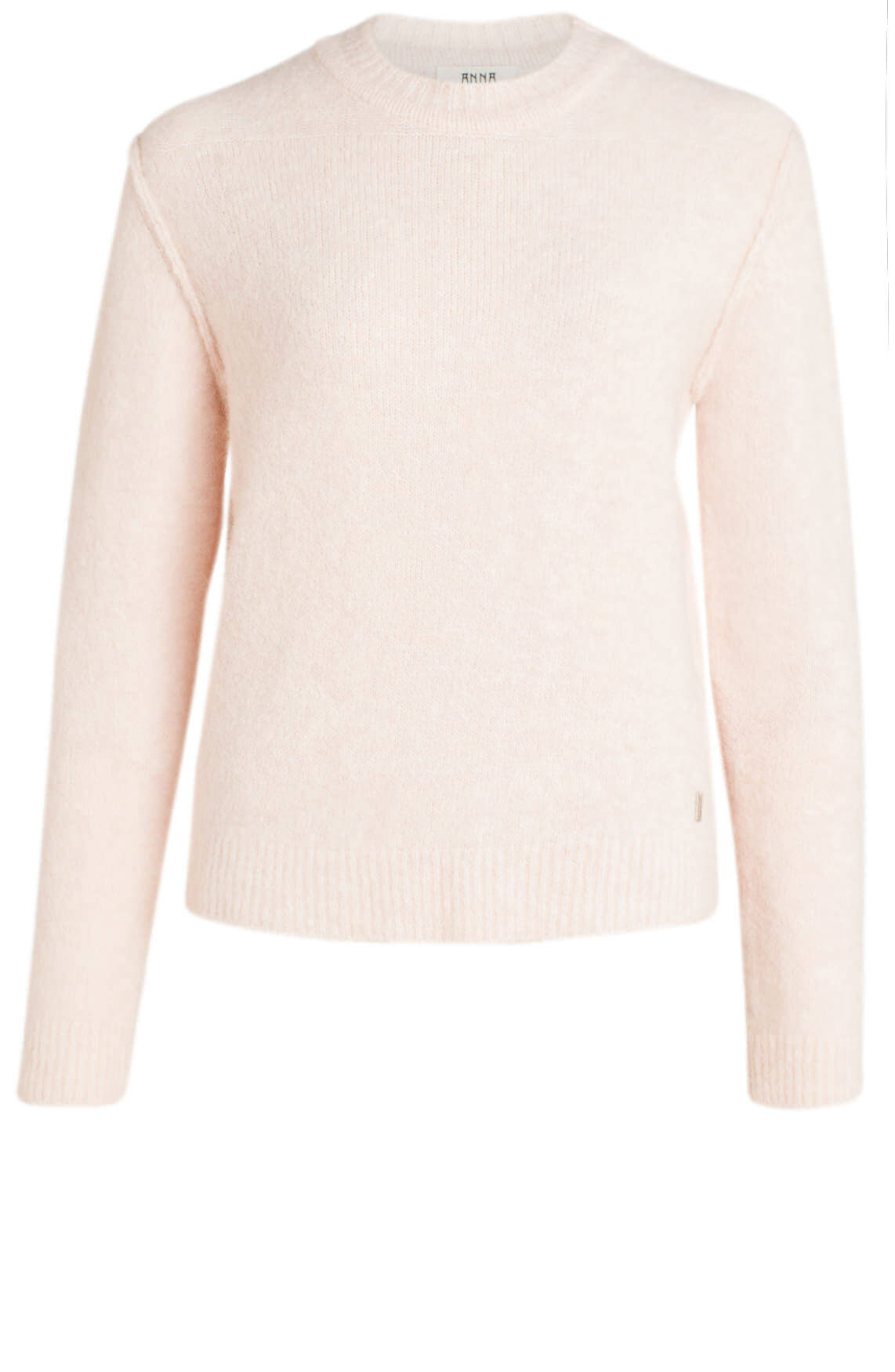 Anna Dames Pullover met wolmix roze
