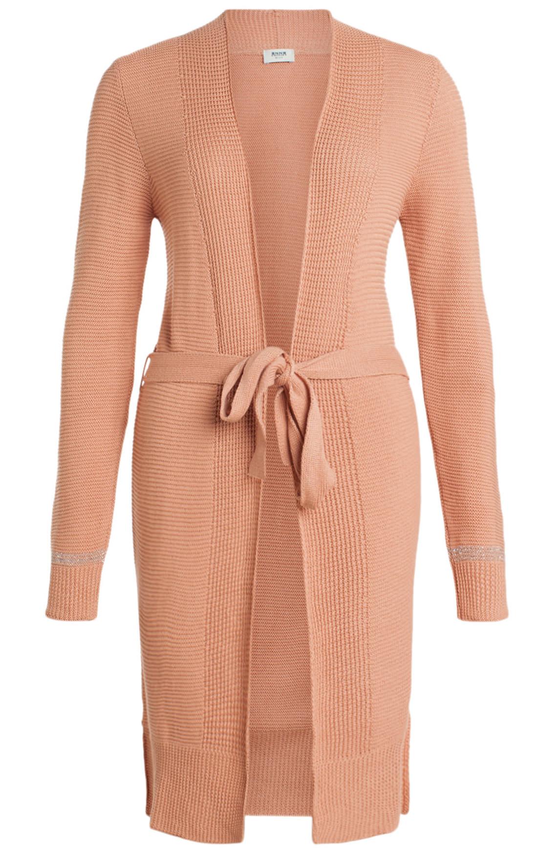 Anna Blue Dames Gebreid vest met lurex roze