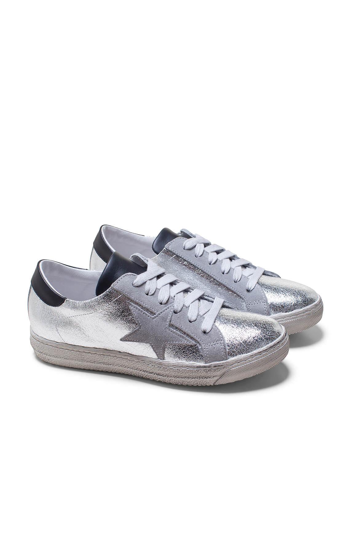 Meline Dames Sneaker met ster Zilver