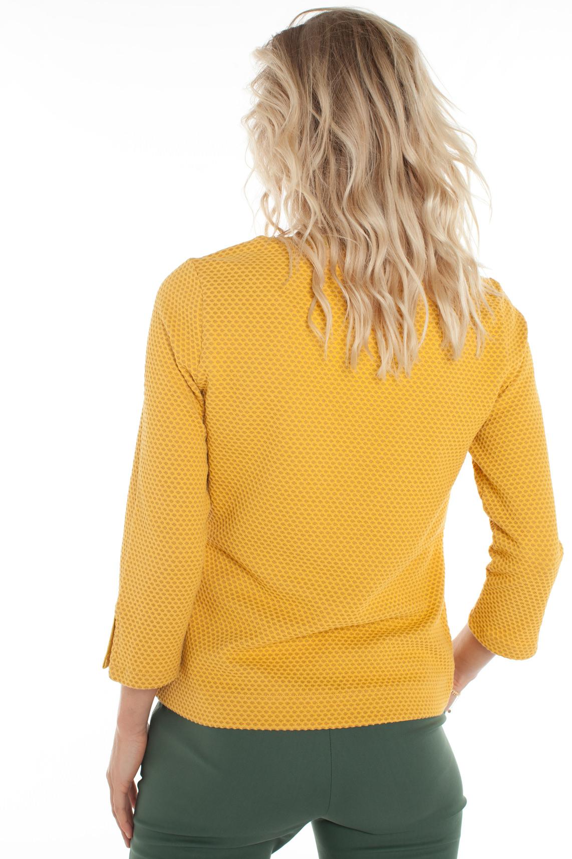Anna Dames Structuur sweater geel
