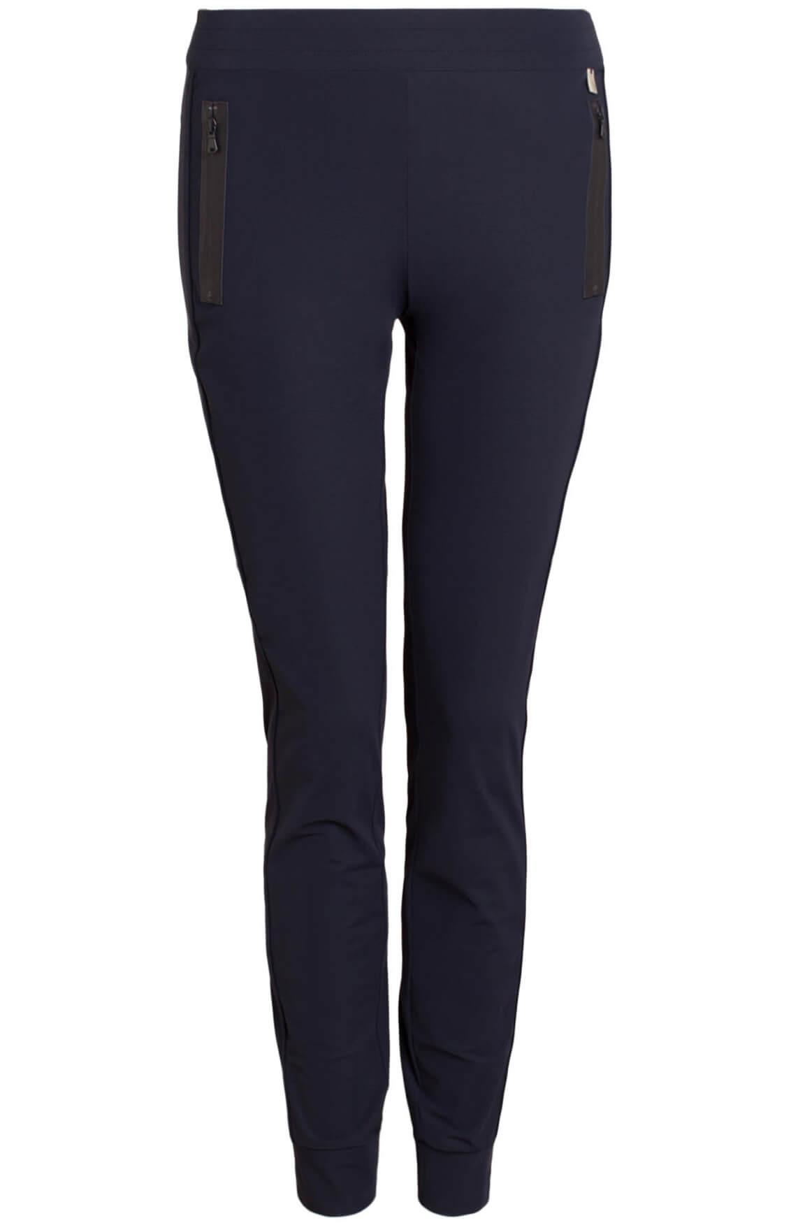 Anna Dames Jersey broek Blauw