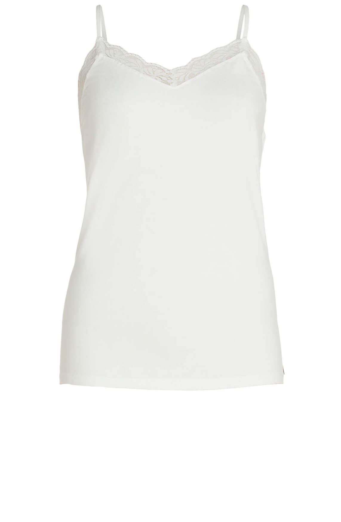 Anna Dames Top met kant wit