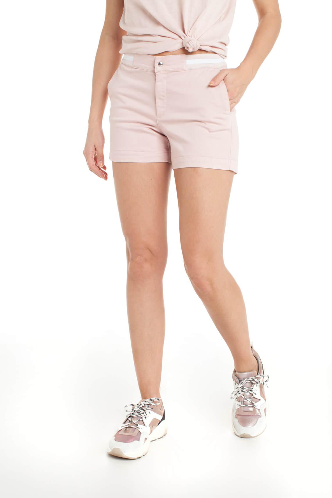 Anna Blue Dames Short met bies roze
