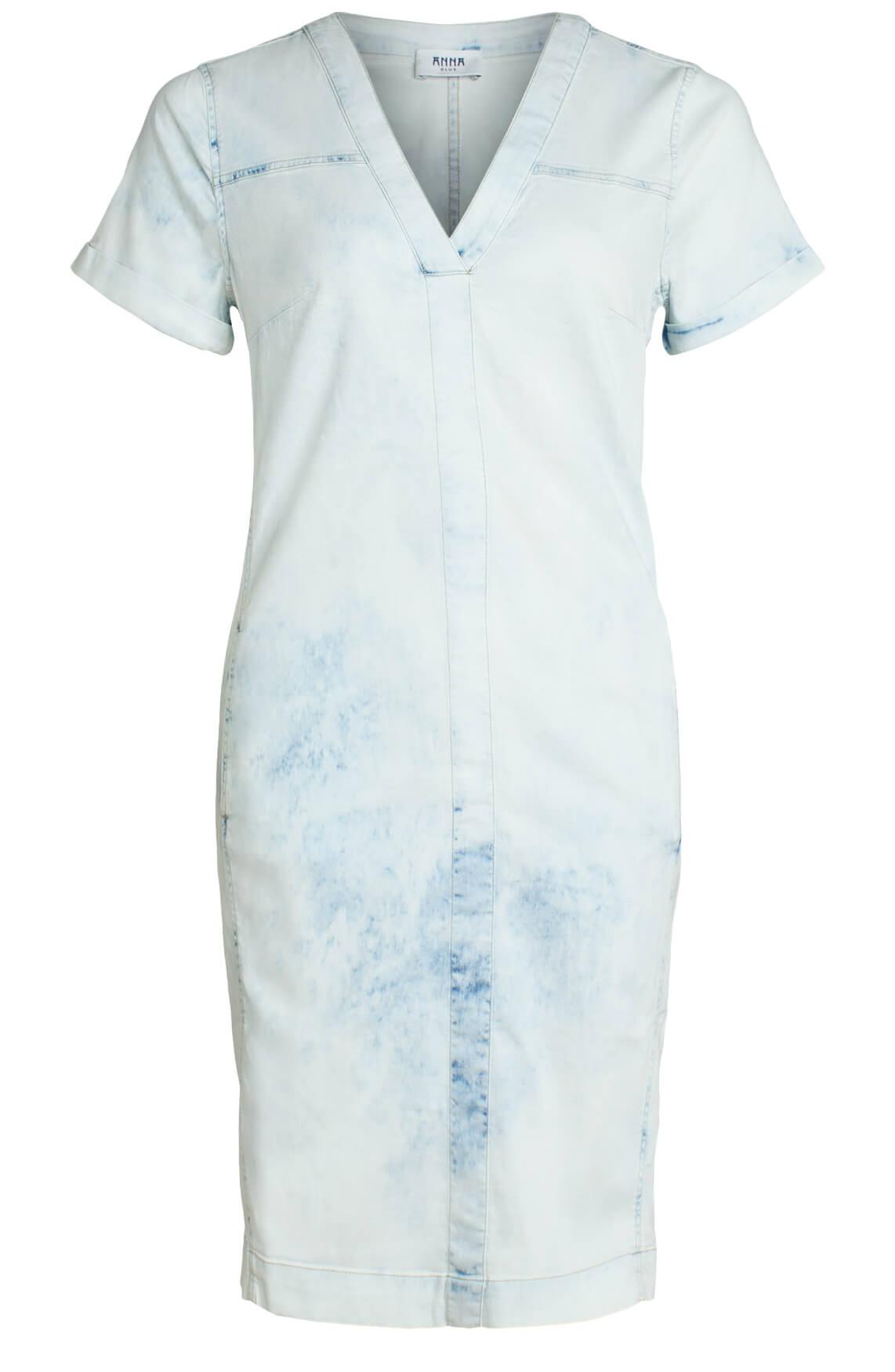 Anna Blue Dames Denim jurk Blauw