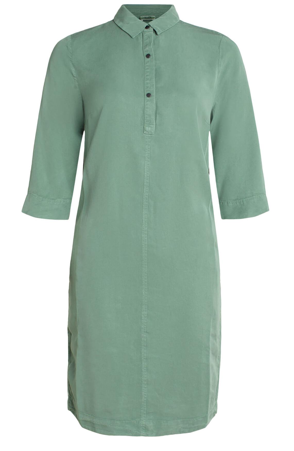 Anna Blue Dames Tencel jurk groen