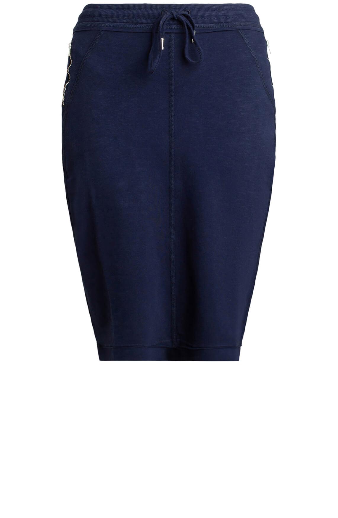 Anna Blue Dames Rok met stoere details Blauw