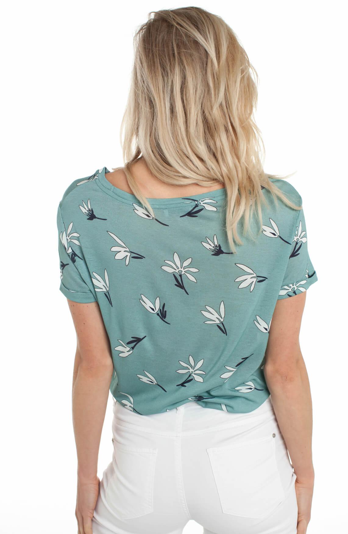 Anna Dames Shirt met bloemenprint groen