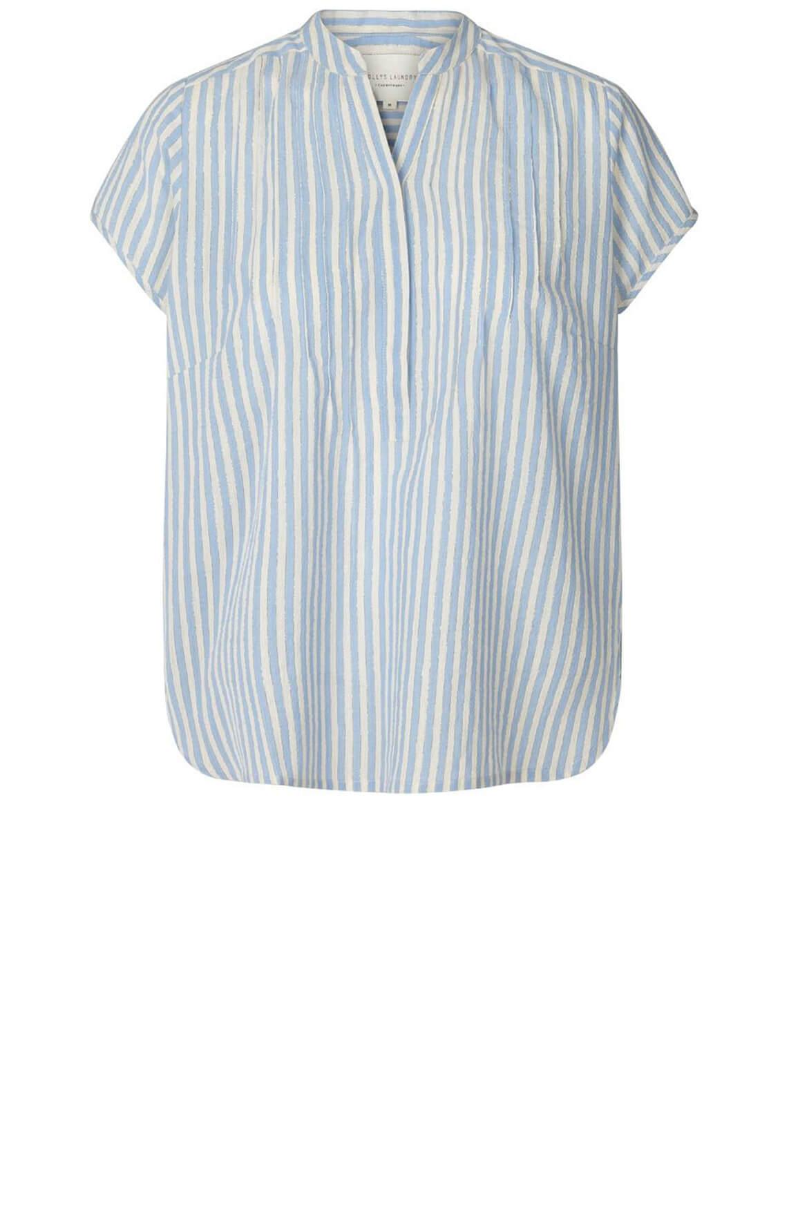 Lollys Laundry Dames Heather gestreepte blouse Blauw
