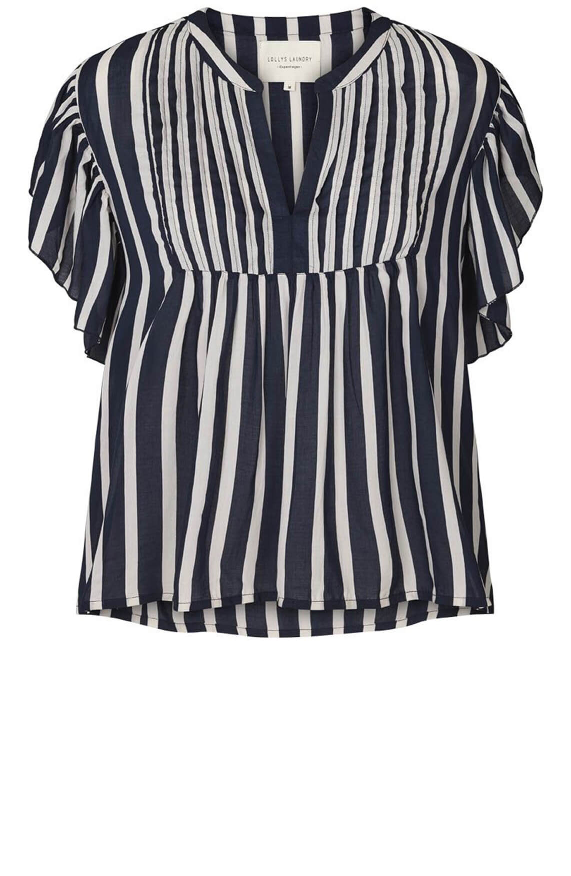 Lollys Laundry Dames Isabel gestreepte blouse Blauw