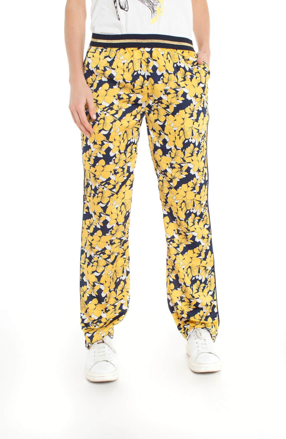 Lollys Laundry Dames Haven gebloemde broek geel