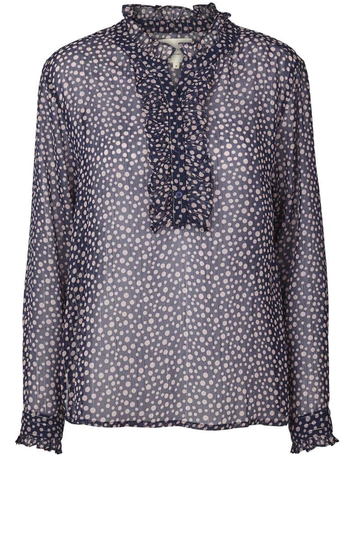 Lollys Laundry Dames Franka blouse met stippenprint Paars