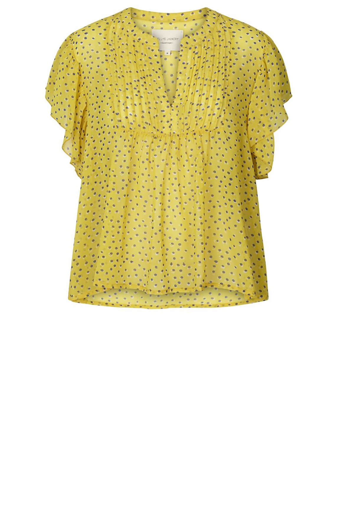 Lollys Laundry Dames Isabel blouse geel
