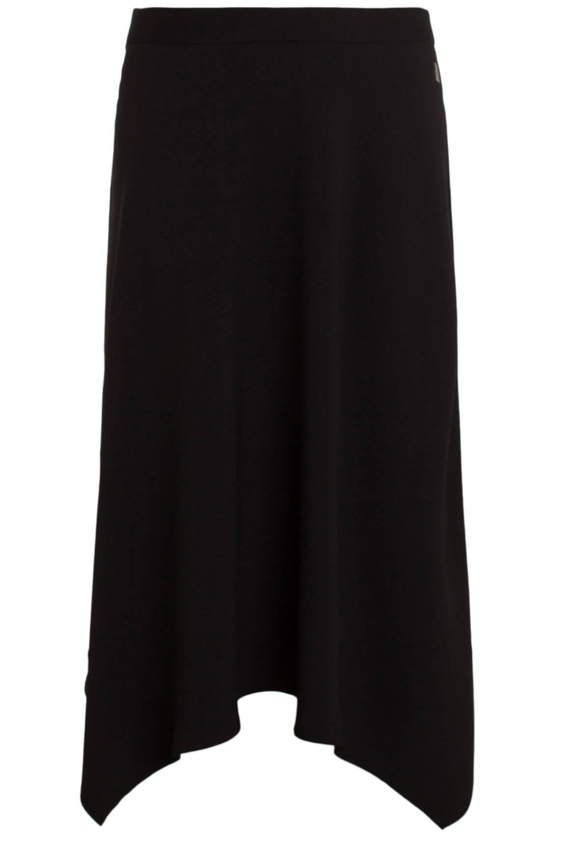 Anna Dames Asymmetrische rok zwart