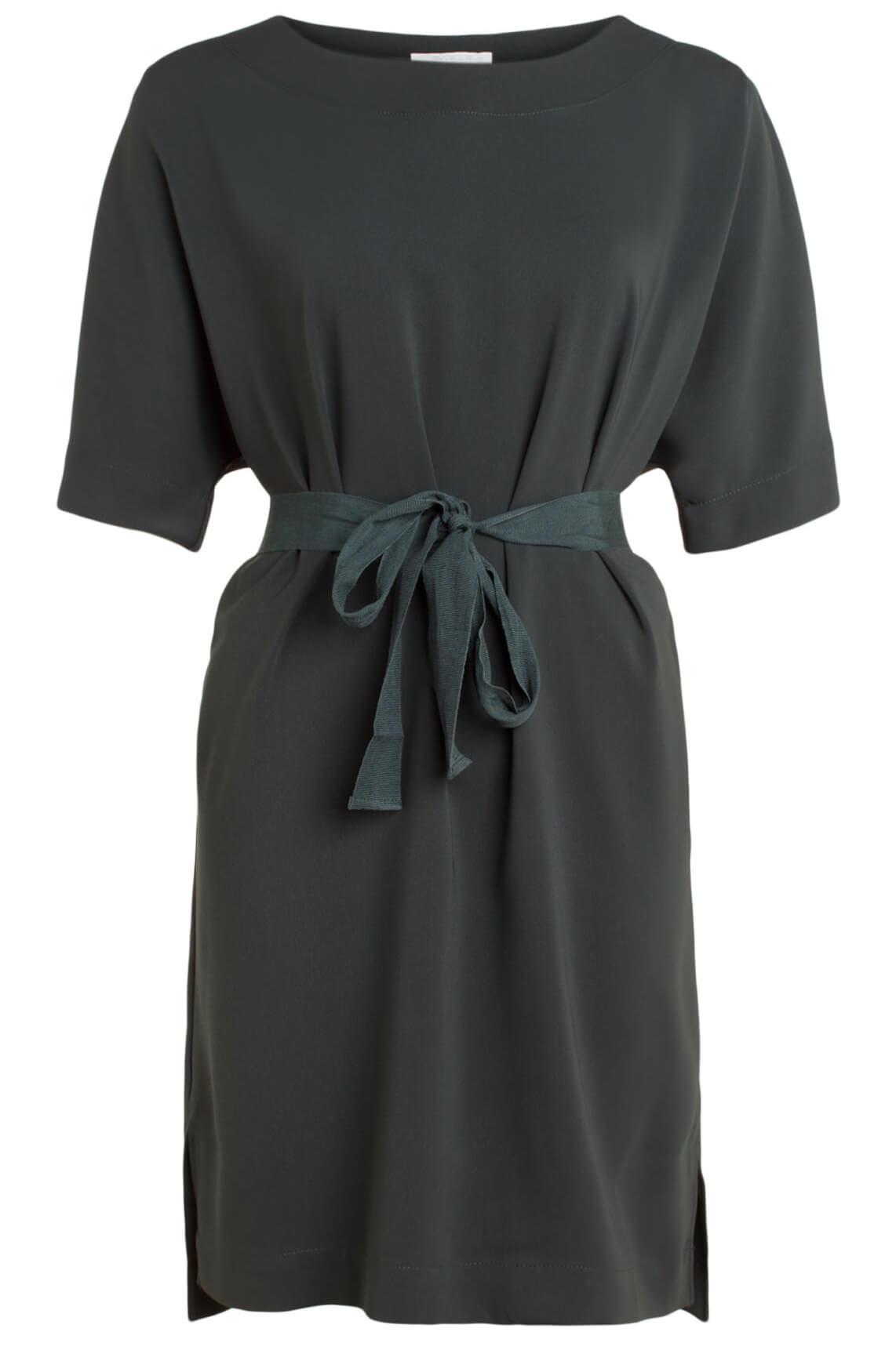 By-Bar Dames Pien jurk met ceintuur groen