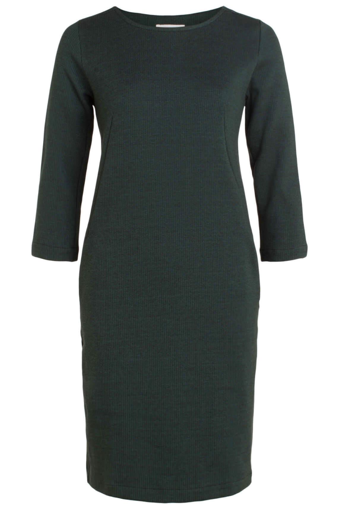 By-Bar Dames Zen gestreepte jurk groen