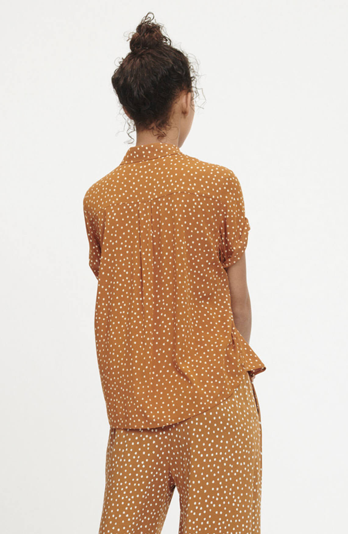 Samsoe Samsoe Dames Majan gestippelde blouse Bruin
