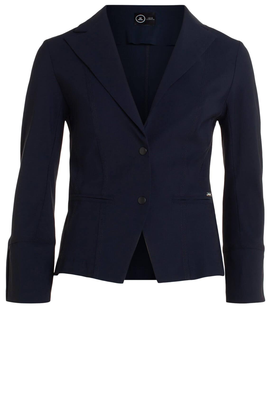 Jane Lushka Dames Blazer met strikdetail Blauw