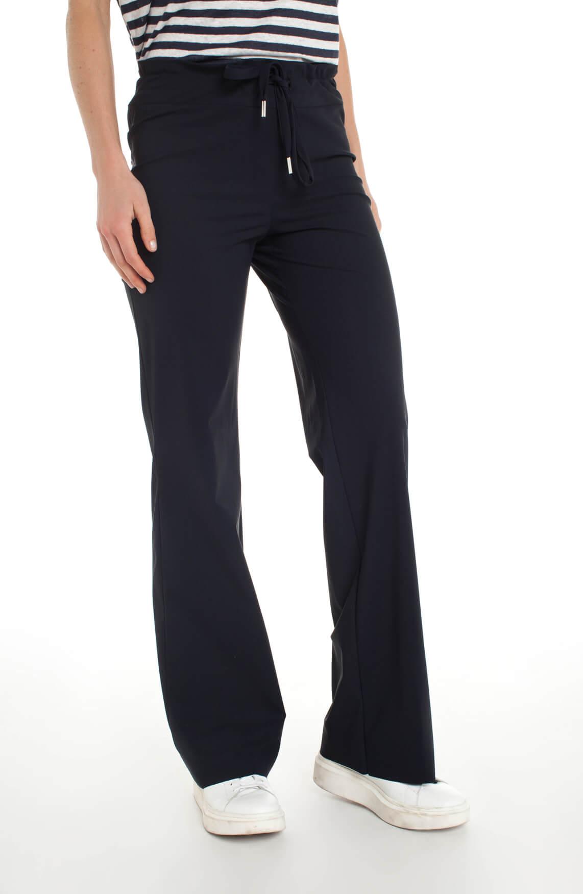 Jane Lushka Dames Jersey flared broek Blauw