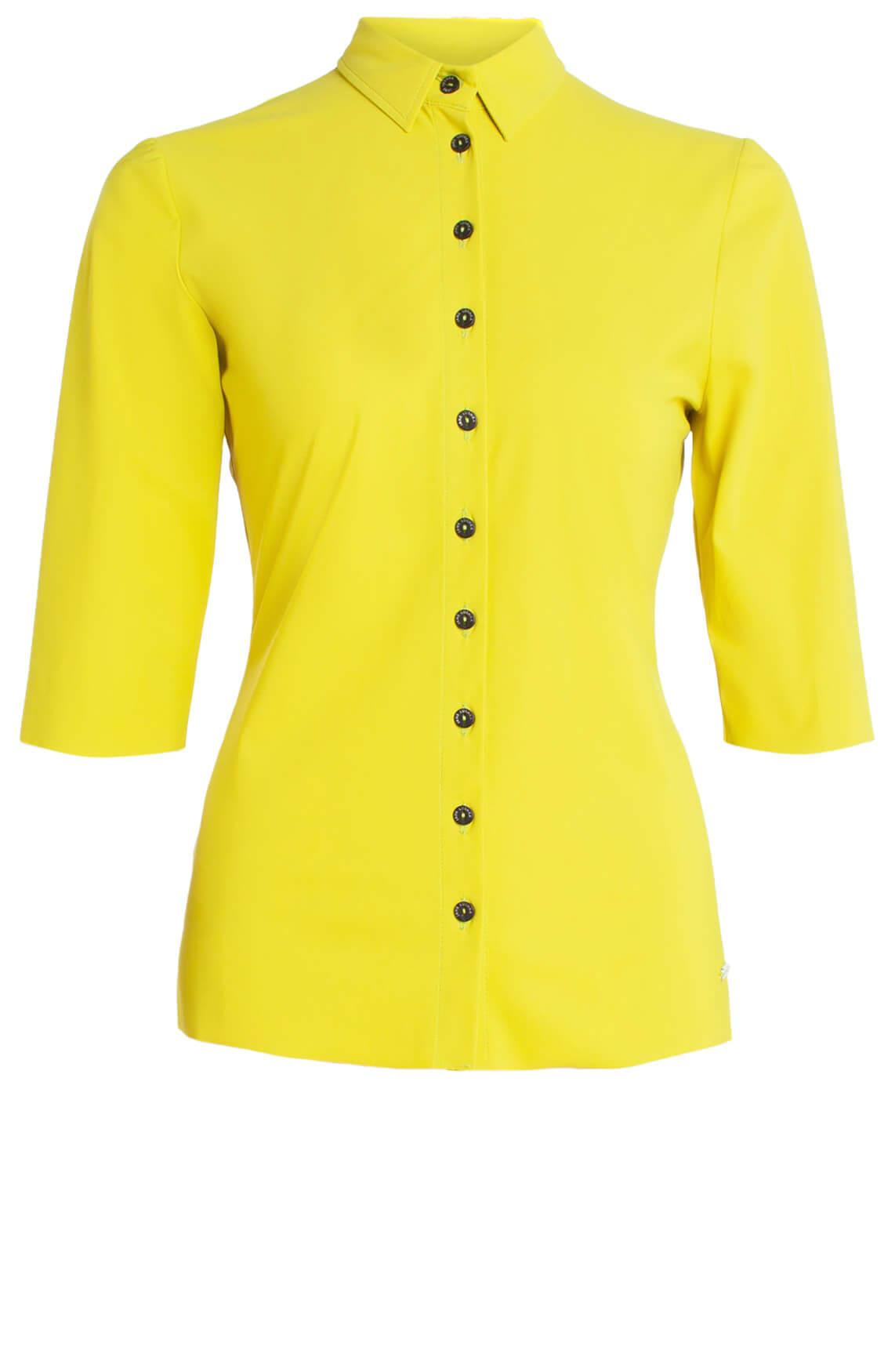 Jane Lushka Dames Jersey blouse geel