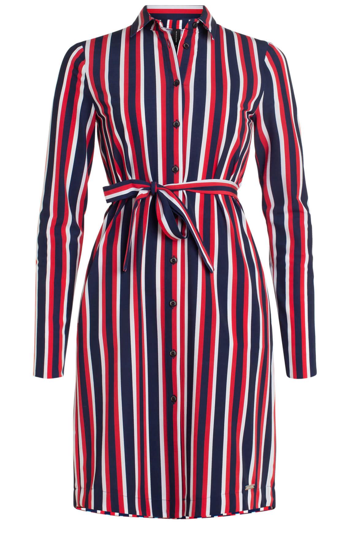 Jane Lushka Dames Gestreepte jurk Rood