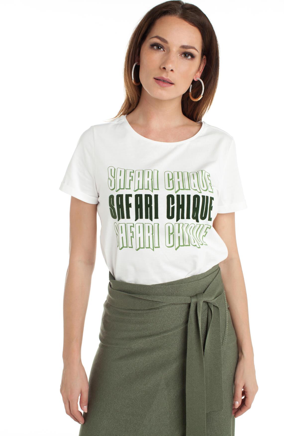 Anna Dames Shirt met tekstprint wit