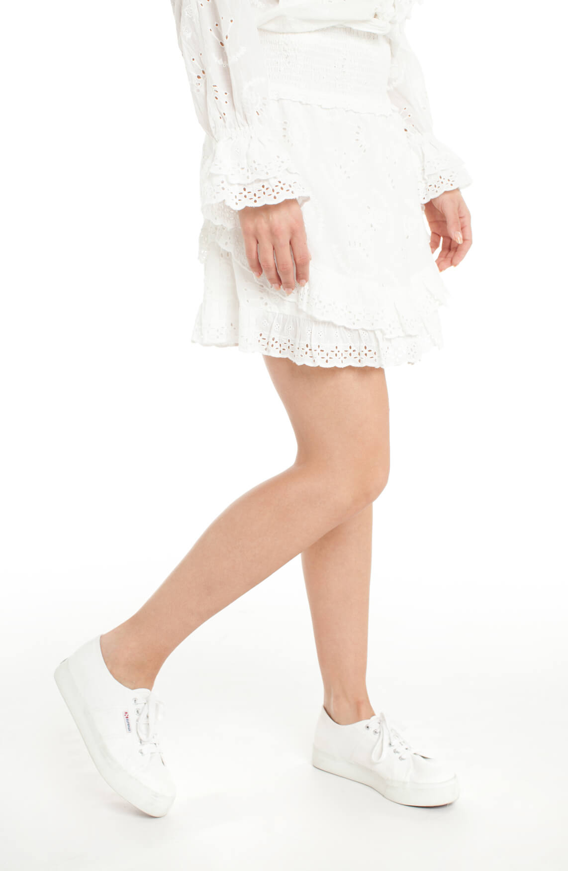 Alix The Label Dames Broderie rok wit