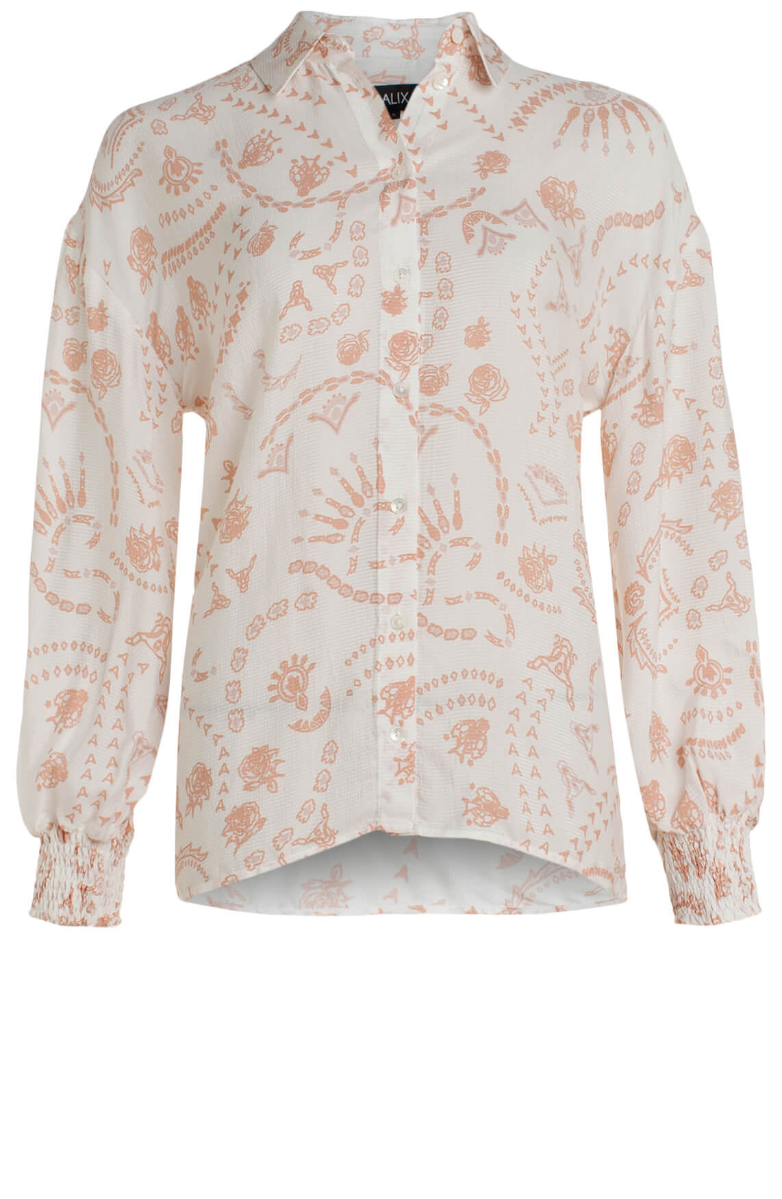Alix The Label Dames Blouse met print wit