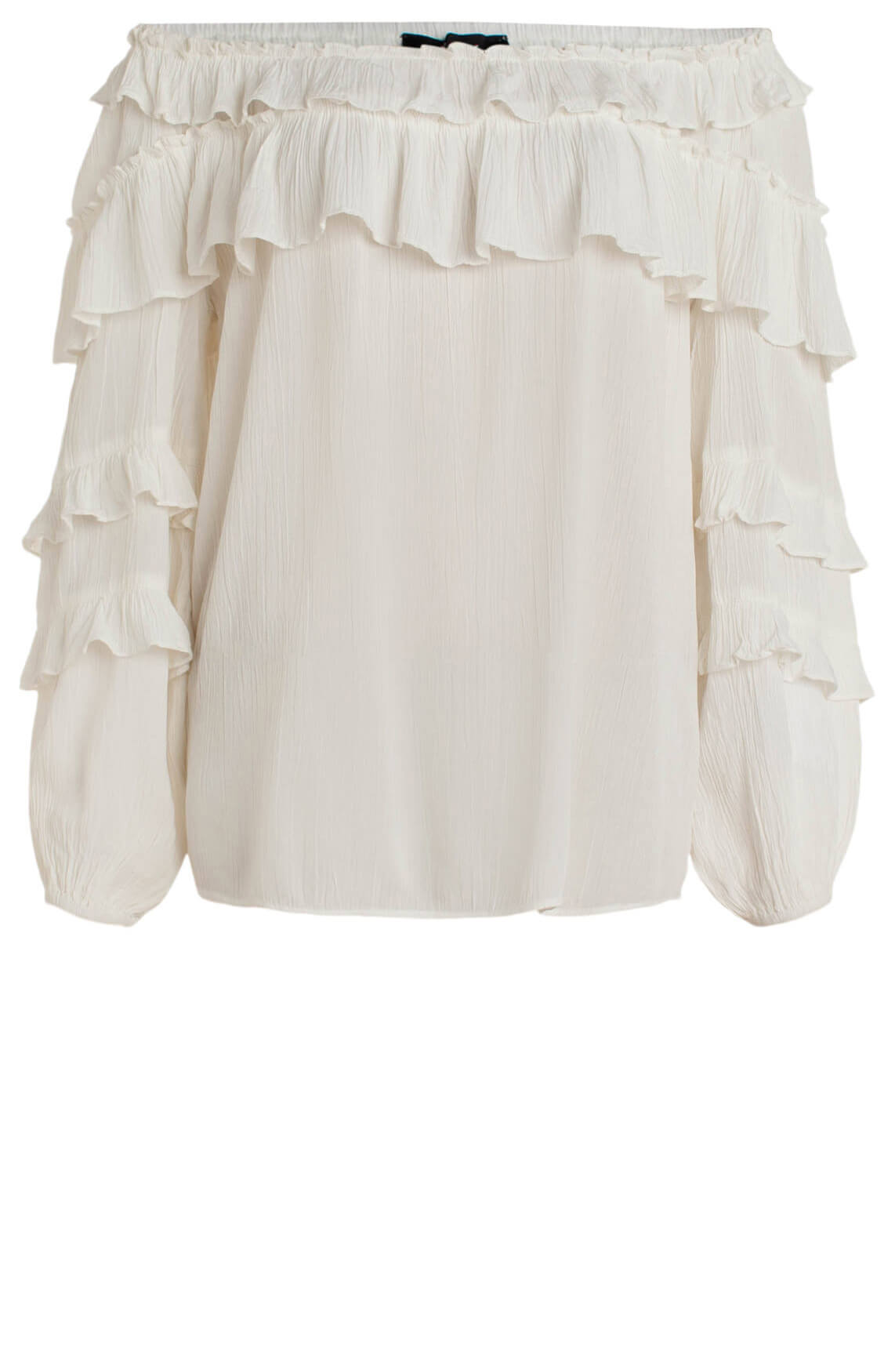 Alix The Label Dames Off shoulder blouse met ruches wit