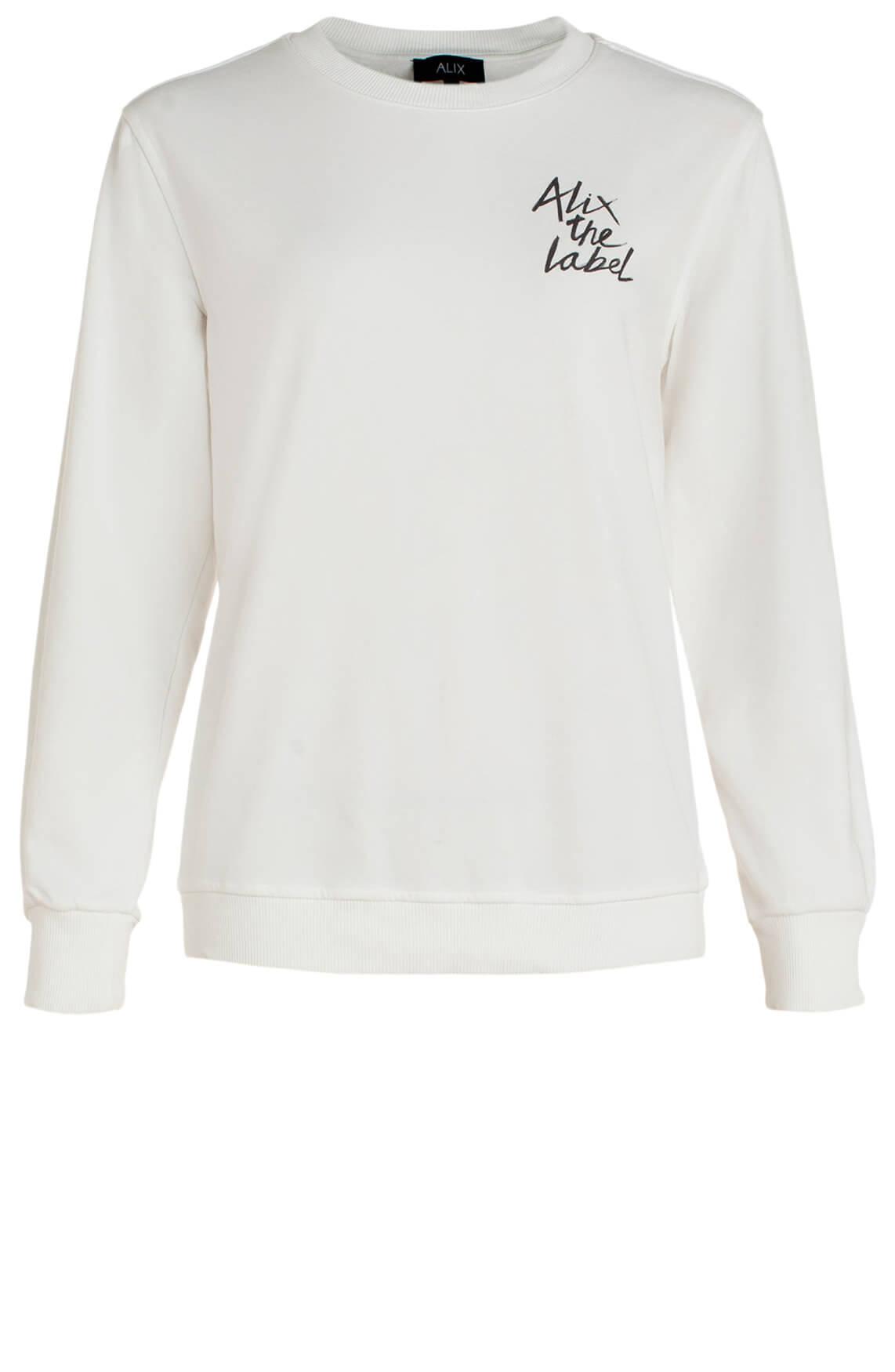 Alix The Label Dames Sweater met tekstprint wit