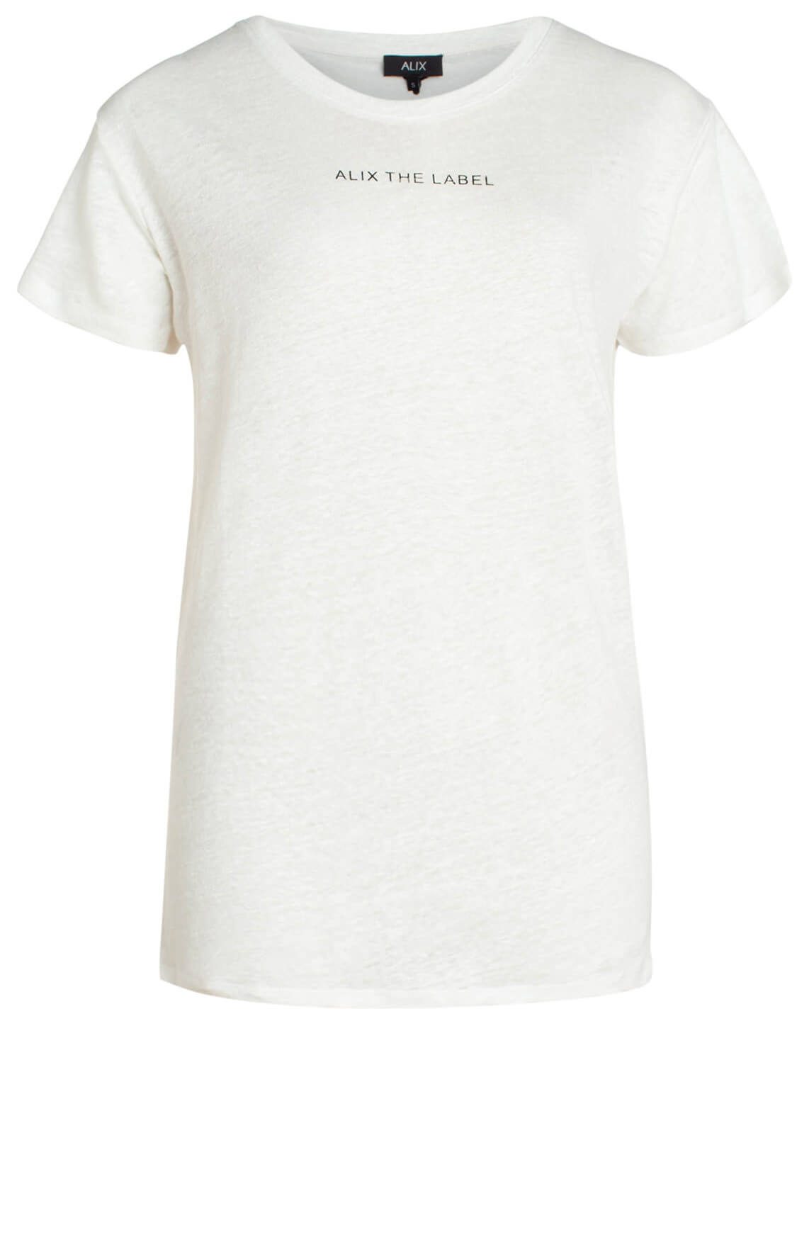 Alix The Label Dames Linnen shirt met tekstprint wit