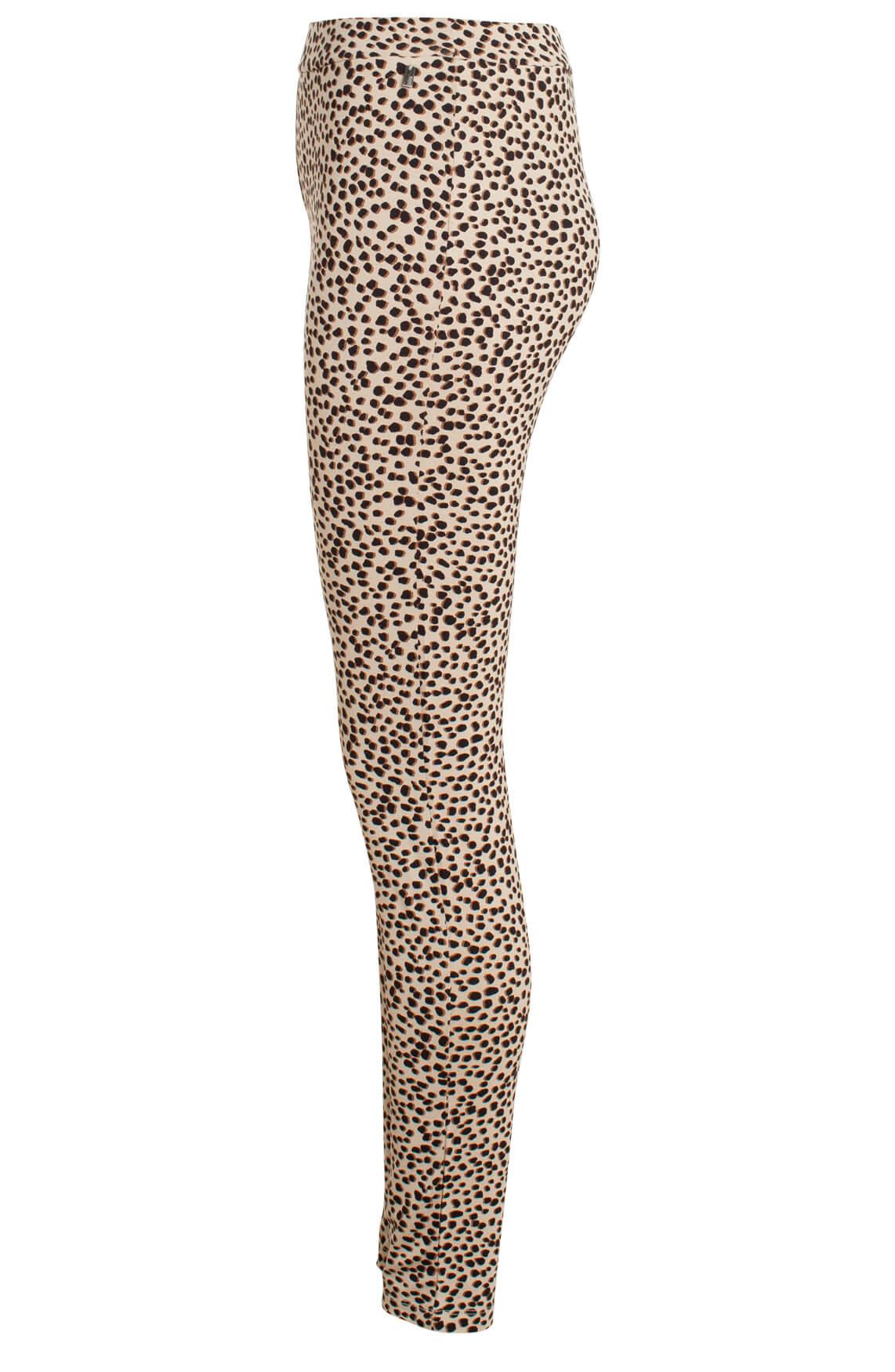Anna Dames Legging met animalprint Bruin