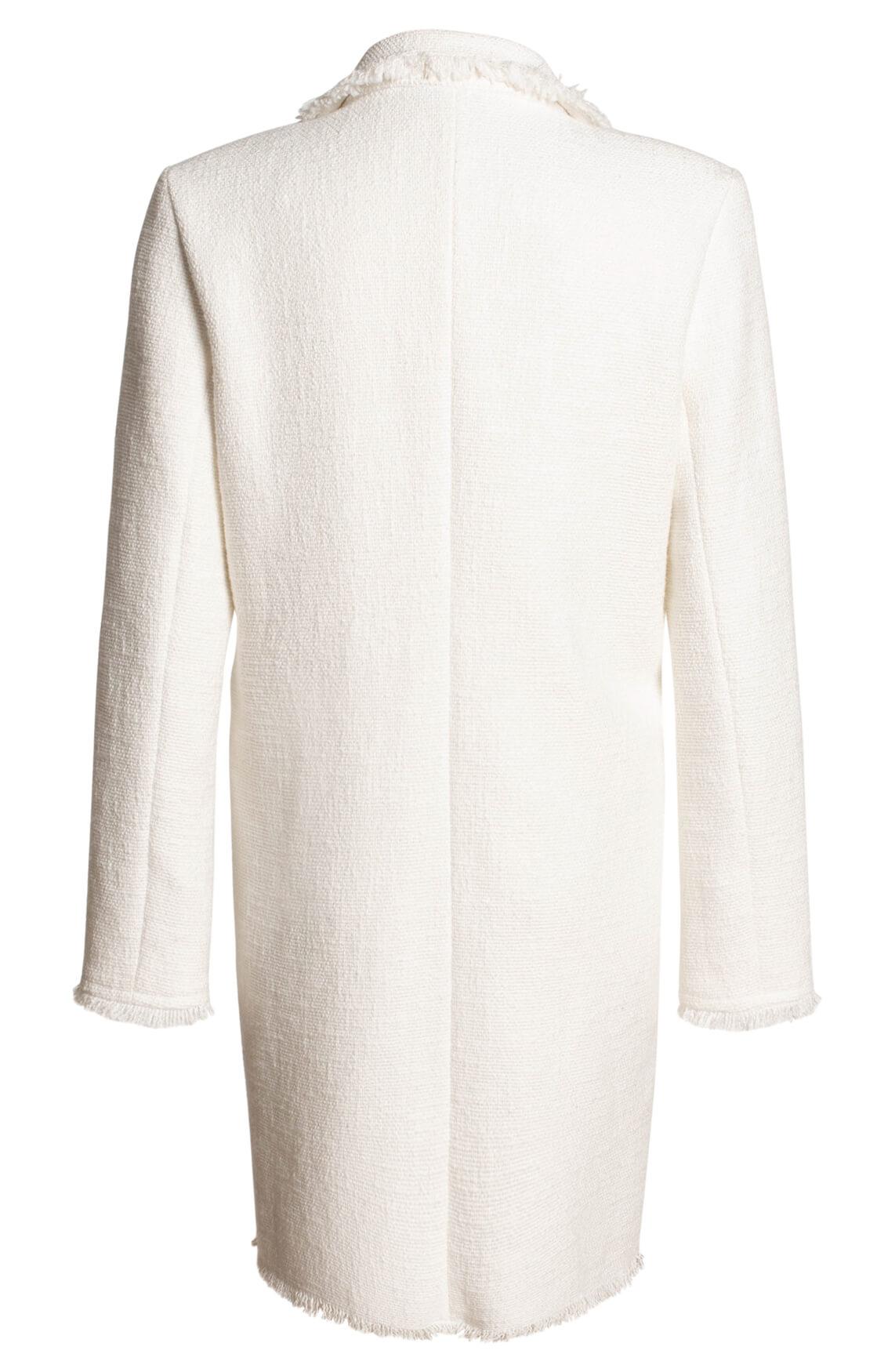 Anna Dames Lange blazer wit