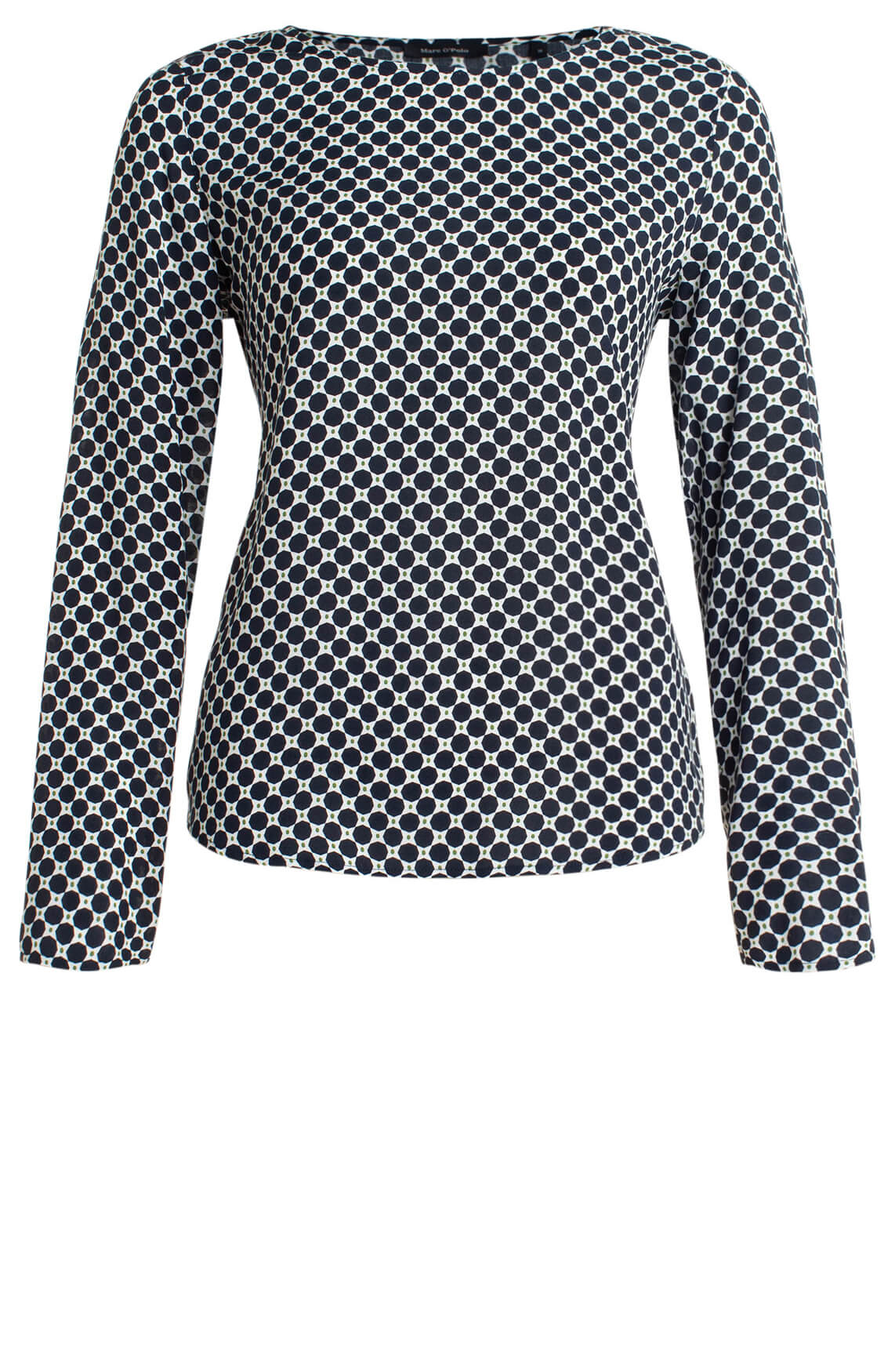 Marc O'Polo Dames Blouse met cirkelprint Blauw