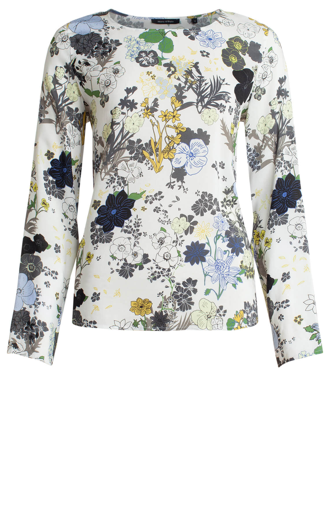 Marc O'Polo Dames Blouse met bloemenprint wit