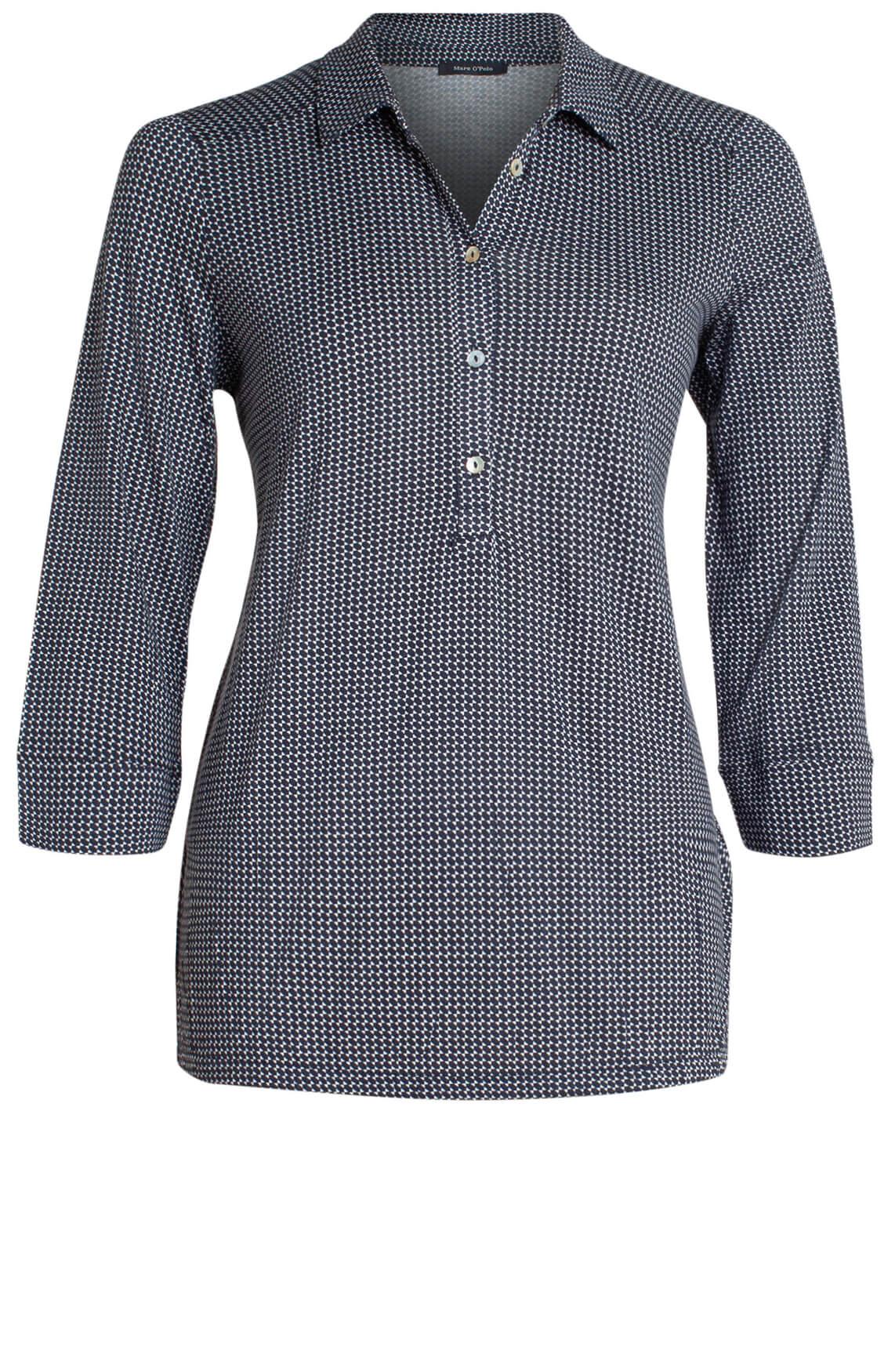 Marc O'Polo Dames Geprinte blouse zwart