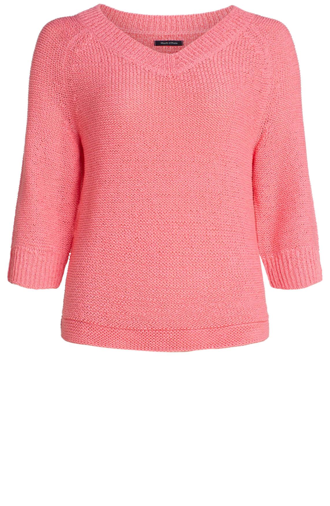 Marc O'Polo Dames Gebreide pullover met V-hals roze