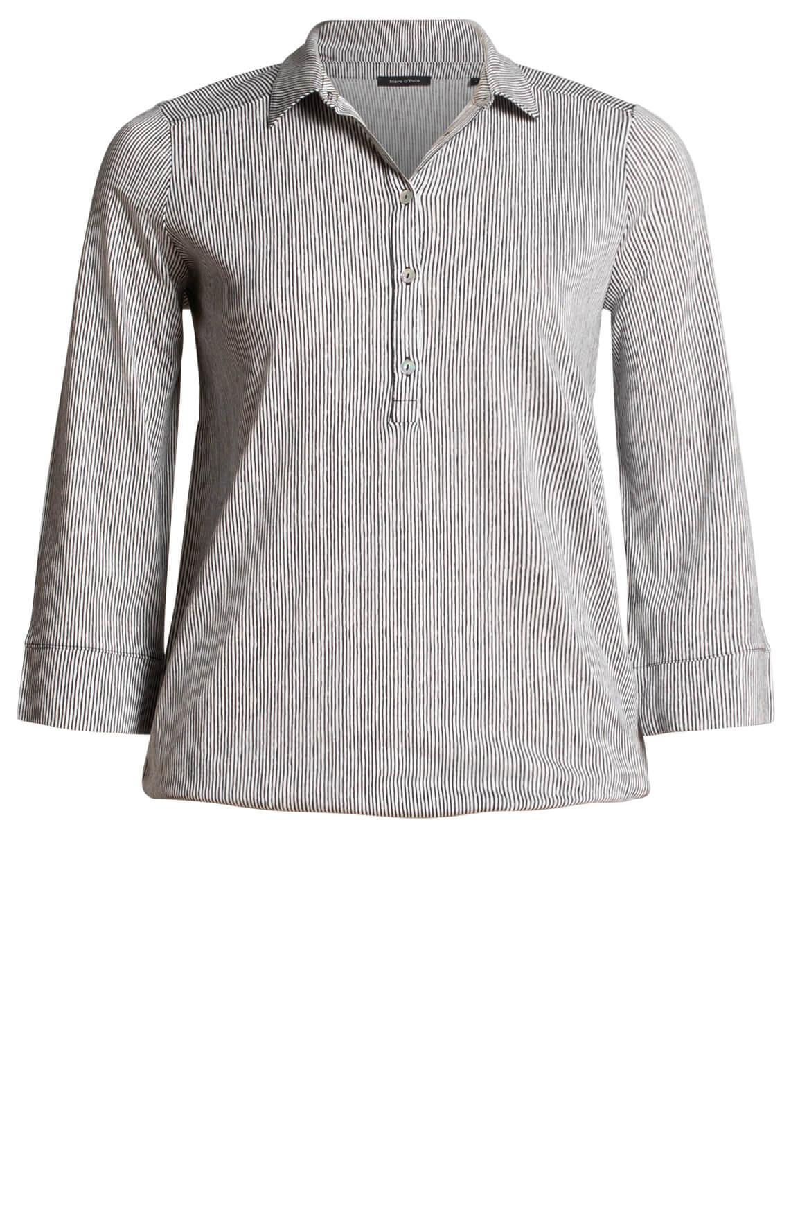 Marc O'Polo Dames Gestreepte blouse zwart