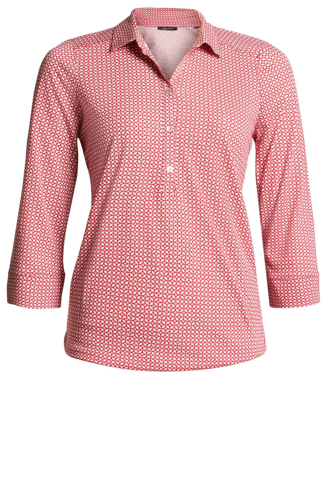 Marc O'Polo Dames Geprinte blouse Rood