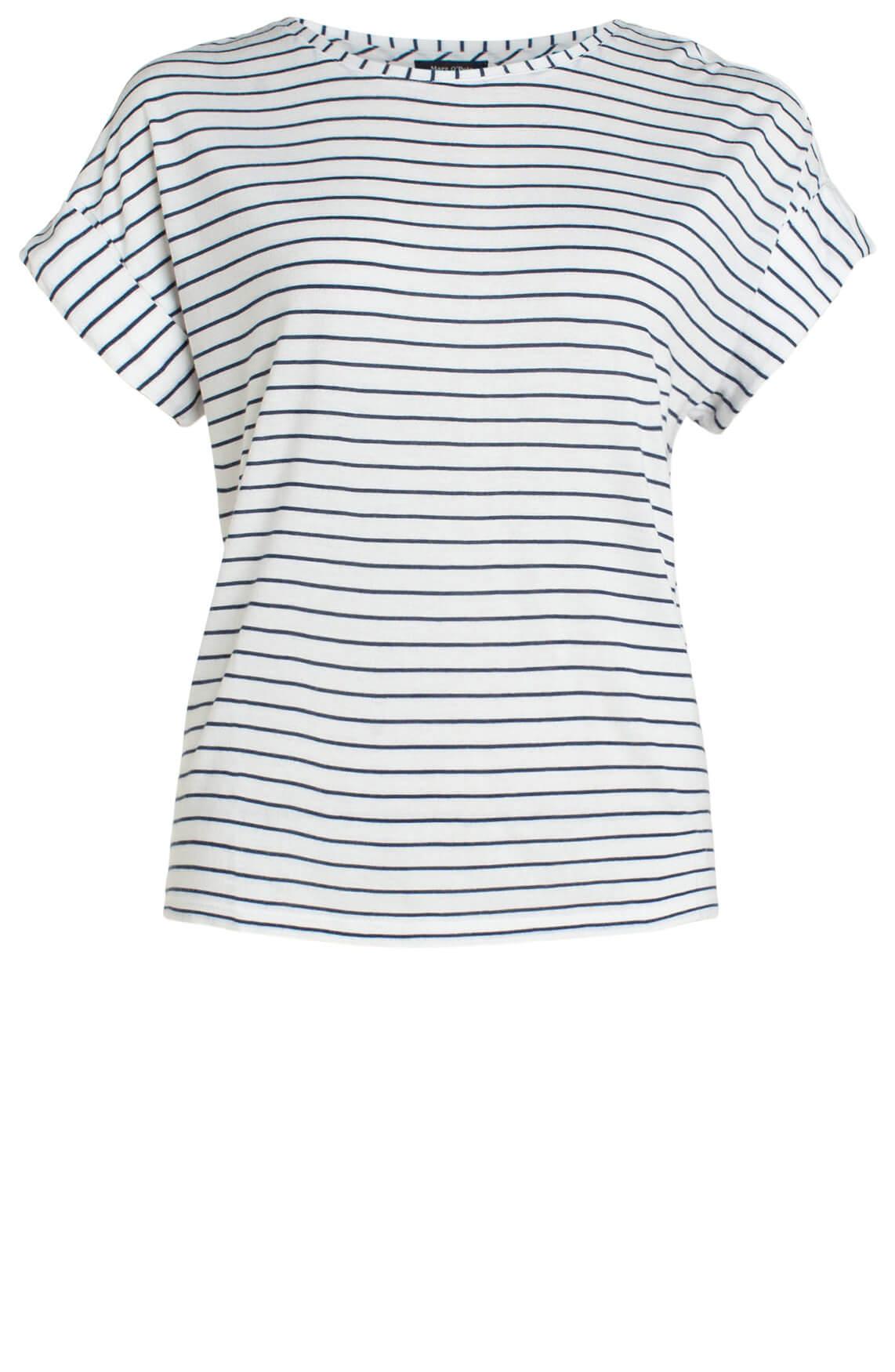 Marc O'Polo Dames Shirt met variërende print wit