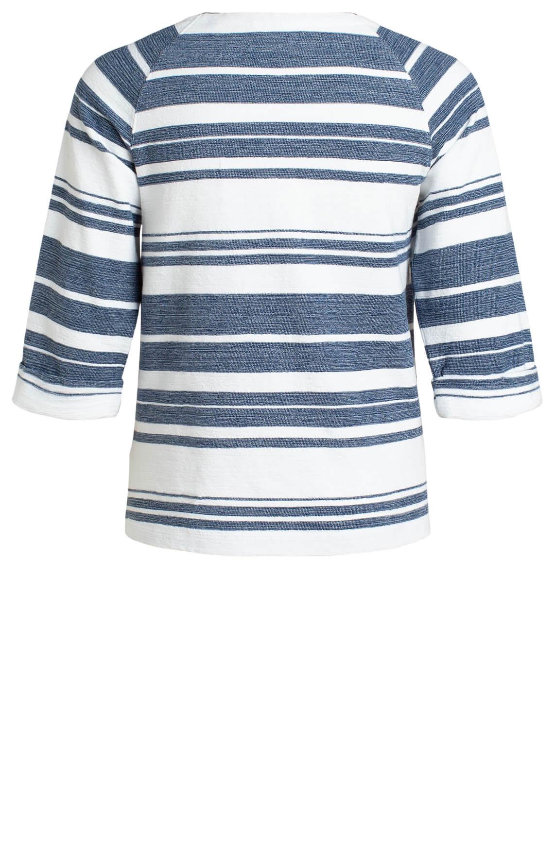 Marc O'Polo Dames Gestreept sweatshirt Blauw